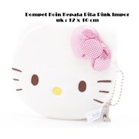 Hello Kitty Dompet Koin Hello Kitty My Melody Kepala Pita Pink Import