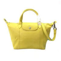 Longchamp Le Pliage Cuir Small - Yellow