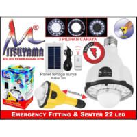 Lampu Emergency Fitting dan Senter Tangan Mitsuyama MS-26TP ms26tp