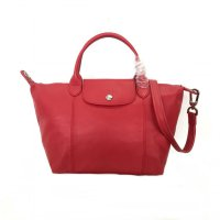 Longchamp Le Pliage Cuir Small - Red