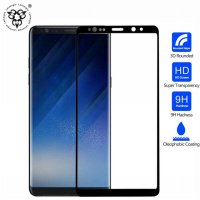 Tempered Glass Samsung NOTE 8 NOTE8 BLACK HITAM Full Body anti Gores Kaca High Quality