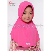 Jilbab Anak, Plain Laura Kids By Miulan Pink