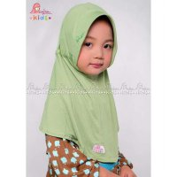 Jilbab Anak, Plain Laura Kids By Miulan Green