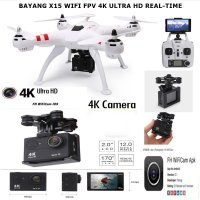 Drone X15 WIFI FPV 4K ULTRA HD REAL TIME