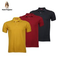 Hush Puppies Polo Shirt Pria MK11505 Rolland [ Available 3 Color