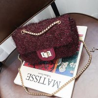 clutch pesta plush bulu 13104 tas kondangan nikahan fashionbag import grosir murah tasfashion wm fashionis