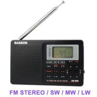 [globalbuy] Newest Portable Full Band FM stereo / MW /SW DSP Radio TV sound World Band Rec/1490917