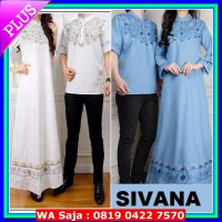 R.E.A.D.Y Couple (L - Fit XL) ARJUNA Gamis dress + Baju Koko - Katun Paris Bordir