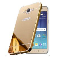 Samsung J5 2015 J500 Bumper Slide Mirror Case - GOLD