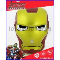 Topeng Nyala Lampu LED Avengers Spiderman Iron man Hulk Avenger Hero