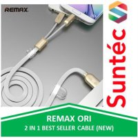 Remax 2 in 1 Same Time Micro USB and Apple iOS (iphone/ipad/ipod) Lightning Cable by Suntec-Cable