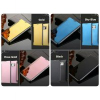 FLIP COVER MIRROR SAMSUNG GALAXY A510 A710 A5 A7 2016 CASE CLEAR VIEW
