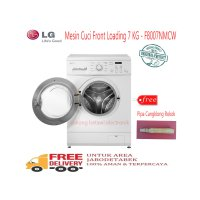 LG F8007NMCW Mesin Cuci Front Loading 7 KG Free Pipa Rokok Cangklong