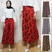 CYM TK2 Celana Kulot batik (black,grey,navy,red)