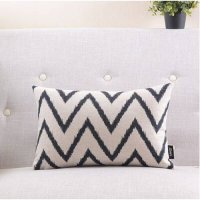 [globalbuy] Hot-selling brief fashion pillow geometry abstract fluid cushion sofa cushion/2664449