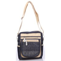 Raindoz Satchel Bag Wanita RRAx013 Ethnic Motif Blue