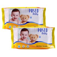 [1+1] Paseo Baby Wipes 50's Tissue Basah