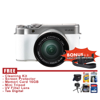 Fujifilm X-A10 / XA10 Kit16-50mm - White - Free Accessories