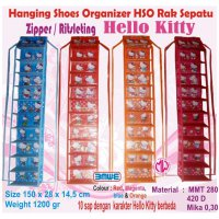 Rak Sepatu gantung karakter HSOZ Resleting Hanging Shoes Organizer Zipper HSO sleting retsleting