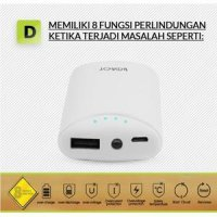 #AB013 - PB Powerbank ROBOT RT5700 5.200mAh Single Output ORIGINAL