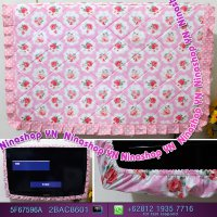 Cover Tv,Bando Tv,Tutup Tv Led/Lcd Motif Roses Doty Pink