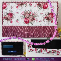 Cover Tv,Bando Tv,Tutup Tv Led/Lcd Motif Shabby Brown