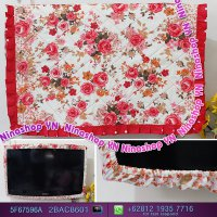 Cover Tv,Bando Tv,Tutup Tv Led/Lcd Motif Shabby Red