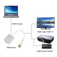(Ready) USB 3.0 Male To HDMI Female 1080P Video Adapter Converter
