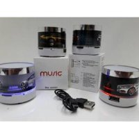 Speaker Bluetooth Music Portable Logo Mobil LED - MX