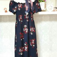 Baju fashion wanita Longdress Flower Sabrina Import 2in1