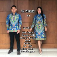 Baju batik sarimbit couple tunik