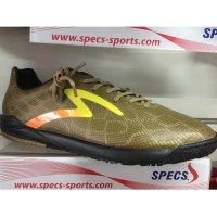 Sepatu futsal specs original accelerator fury in gold-yellow-black