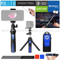 BENRO MK10 Smart Bluetooth 3in1 Mini Tripod Selfie Tongsis for Smartphone HP Vlogging & Action Camera MK 10