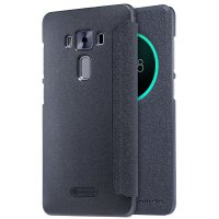 Nillkin Sparkle View Leather Flip Case for Asus Zenfone 3 Deluxe 5.7 ZS570KL - Hitam