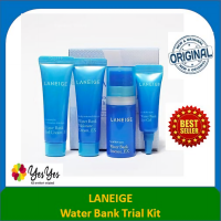 Laneige Water Bank Trial Kit (waterBank essence+Gel Cream+Eye Cream +Moisture cream EX) Original