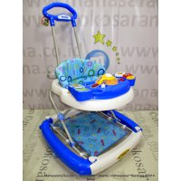 Jabodetabek Go-Send Family FB2115LD Rolex Melody 3 in One Baby Walker, Ayunan & Dorongan Blue