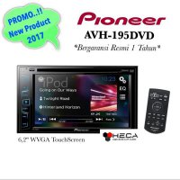 Pioneer AVH-195DVD Head Unit 2Din Double Din AVH 195 DVD Tape Mobil Audio AVH195DVD