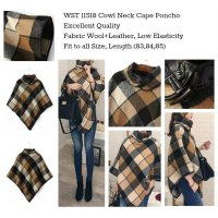 Cowl Neck Cape Coat (size S,M,L) -11518