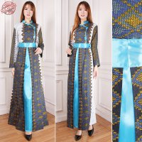 SB Collection Gamis Maxi Dress Prida Longdress Terusan Casual Batik Wanita