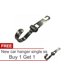 Lanjarjaya Stainless Steel Car Hanger Aksesoris Gantungan kursi jok Single kait di Mobil+Buy 1 Get 1