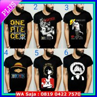 #Kaos Kaos Distro Premium Tshirt Anime One Piece Oplovers SHP Luffy Zorro