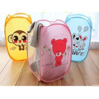 Cartoon Folding Dirty Clothes Basket Keranjang Baju Kotor Lipat Kartun