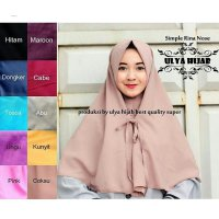 Jilbab Instant simple rina nose bahan wolpis