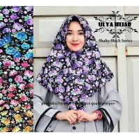 Jilbab Instant Simple shaby black series bahan wolpis