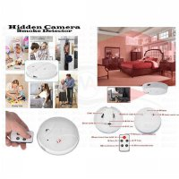 Spy Hidden Camera With IR Remote Control Smoke Detector