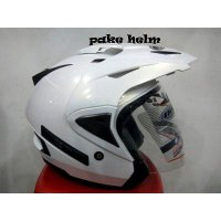 #Half Face HELM INK T MAX SOLID WHITE TMAX