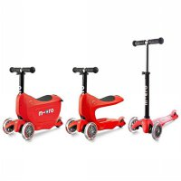 Micro Mini2Go Deluxe - Red (Scooter Sepeda Anak)