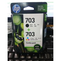 (Recommended) HP 703 Tri-color/Black Ink Cartridge Combo 2-Pack