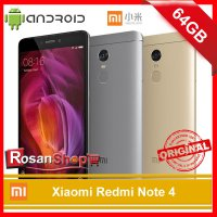 Xiaomi Redmi Note 4 Ram 3GB Rom 64GB 3/64 Original 100% Garansi 1Thn - Gray, Gold, Black
