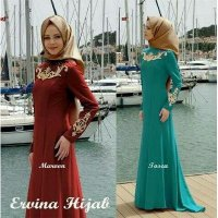 Pashmina/Fashion Muslim/Dress/maxi/ Elvina Embroidery Maxi Hijab